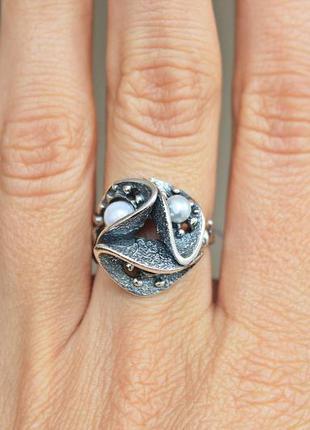 Серебряное кольцо алтай р.17,5