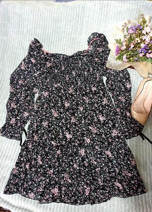 Платье в цветочек крутое милое тренд