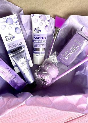 Подарочный набор бьюти бокс для девушек и женщин purple