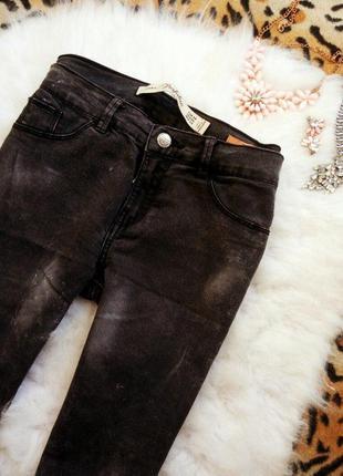 Серые джинсы скинни варенки джеггинсы американки от zara