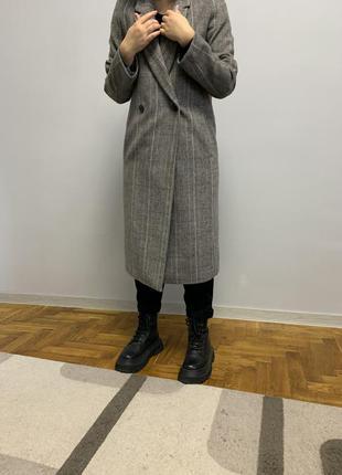 Шерстяное пальто миди длинное esprit