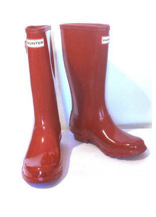 Легендарные резиновые сапоги для девочки от бренда hunter, оригинал! р.34 код r3401