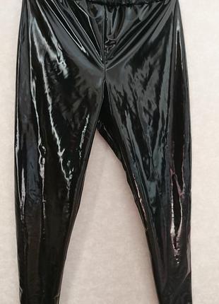 Лосины латексные черные лаковые лосины виниловые  латекс