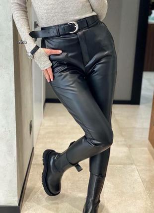 Женские брюки, нарядные брюки, классические брюки, чёрные брюки, кожаные брюки