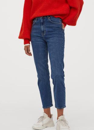 Новые винтажные джинсы h&m с высокой талией. размер 48.