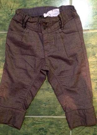 Стильные штанишки h&m 9-12 мес 80 см