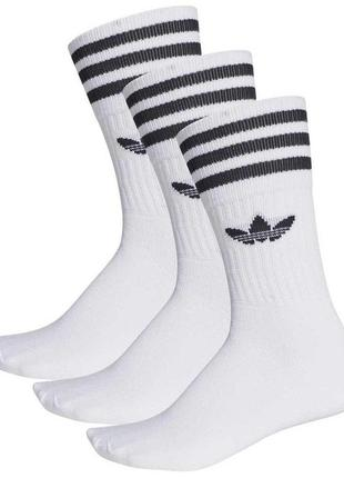 Носки adidas originals solid crew, 3 пари