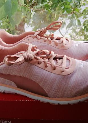 Кроссовки женские розовые белые puma narita v3 оригинал