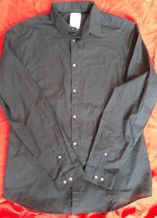 Брендовая рубашка сорочка с длинным рукавом h&m