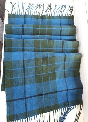 Elgin шотландский шерстяной шарф палантин шерсть кашемир 175*35 см