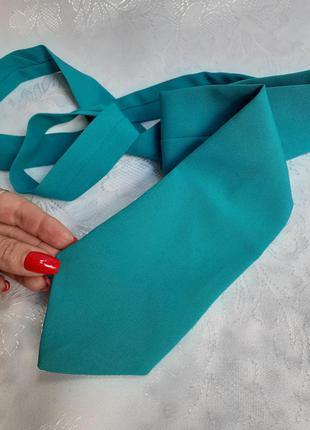 🦋галстук 👔 мужской🦋 классический бирюзовый матовый текстиль морская волна яркий