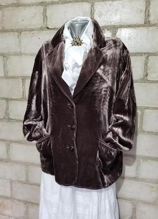 Винтаж ретро жакет пиджак бархат винтаж вискоза шелк