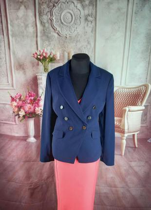 Стильный базовый пиджак синий