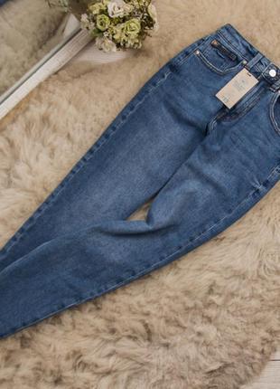 Супер стильные плотные качественные джинсы с высокой посадкой от denim co рр 8 наш 26-27