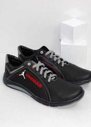 Мужские туфли осенние на шнурках