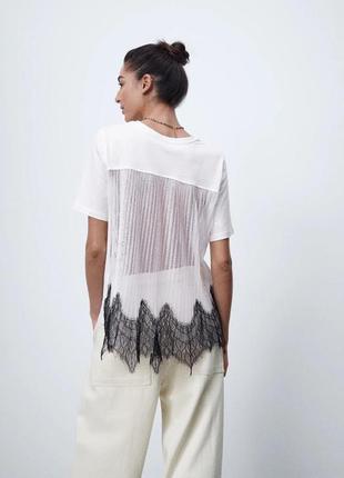 Оверсайз футболка с красивой спинкой размер с zara  оригинал новая коллекция