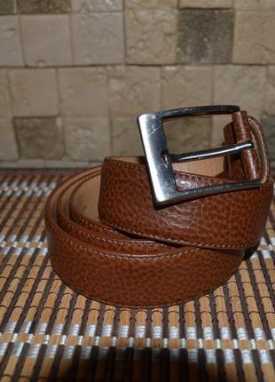 Шикарный фирменный кожаный ремень mario barutti