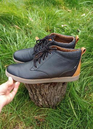 Крутые ботинки полуботинки кроссовки зимние кросовки skechers 44 р оригінал