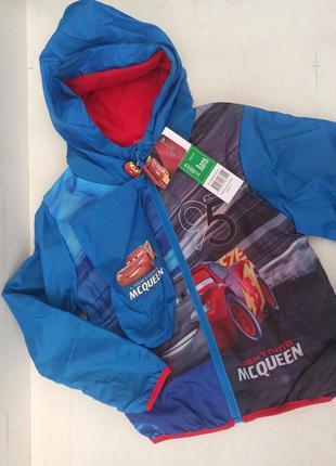 Осіння куртка на флісі для хлопчика на зріст 128 см.