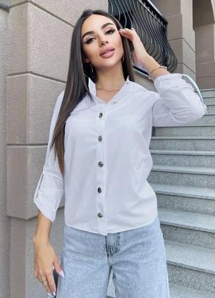 Стильная блуза на пуговицах-море комплиментов, норма и батал