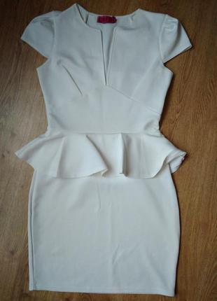 Платье с баской boohoo