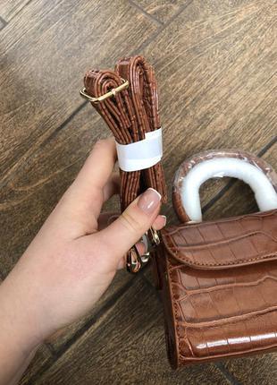 Новая сумка с длинными ручками с бирками брендовая croco 🐊