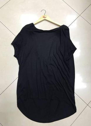 🆘🔥последняя цена до 30 сентября 🆘🔥 черная удлиненная футболка с опущеной спинкой