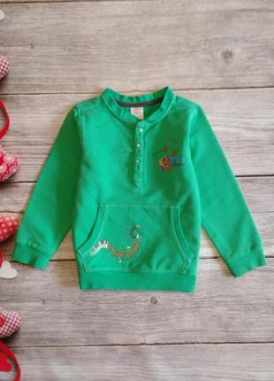 Симпатичный тёпленький свитшот свитер кофта s. oliver на мальчика 2-3 года