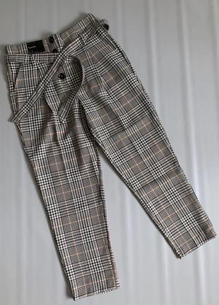 Новые брюки с высокой посадкой new look в клетку