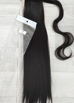 Хвост 60см, оттенок 2, искусственные волосы, шиньон, трессы