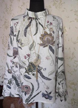 Блуза красивый принт uk14