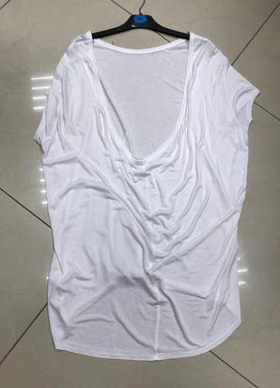 🆘🔥последняя цена до 30 сентября 🆘🔥 белая удлиненная свободная футболка