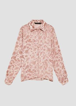 Стильная жаккардовая рубашка с узором пейсли от zara