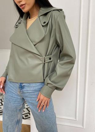 Стильная куртка косуха эко-кожа /косуха з еко-шкіри