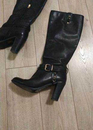 Сапоги кожаные, высокие antonio biaggi