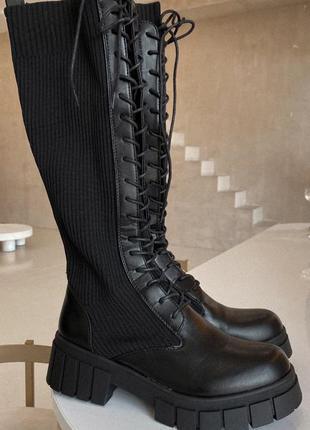 Жіночі чорні сапожки