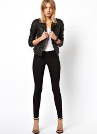 Черные джинсы скинни высокая талия узкачи американки джеггинсы