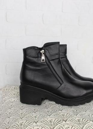 Демисезонные кожаные ботинки, ботильоны 39, 40 размера