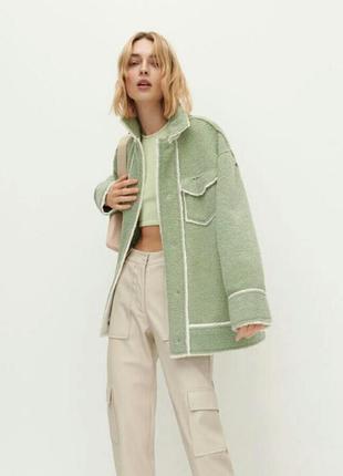 Куртка оверсайз зі штучної овчини