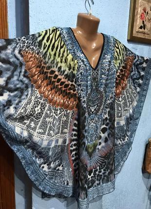 Блуза/блузочка фасону «летюча миш» оверсайз,батал