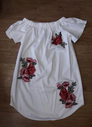 Блуза туніка вишиванка р xs-s