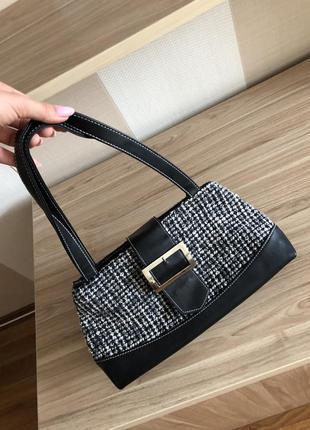 Шикарная багет модная сумочка сумка с короткой ручкой маленькая