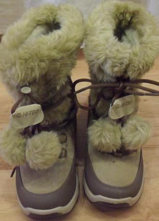 Зимние сапоги hi-tec, размер 34.