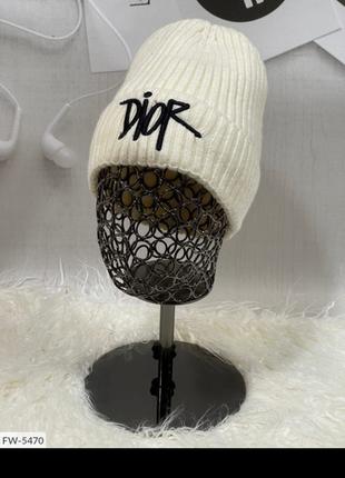 Подростковая шапка белого цвета