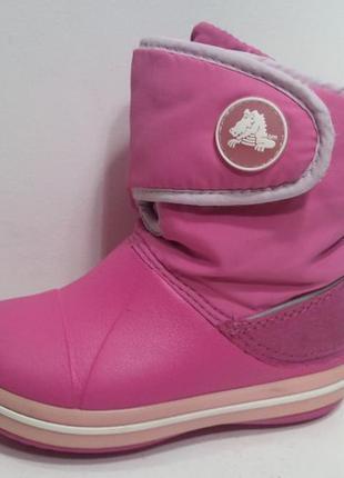 Детские фирменные сапоги ботинки crocs оригинал размер с 10 стелька 16. 5 см