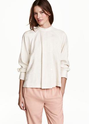 Нарядная блузка с рисунком h&m размер 42европейский