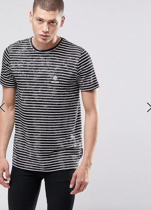 Оригинальная полосатая мраморная футболка criminal damage