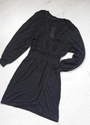 Платье трикотажное vero moda серое раpмер m l