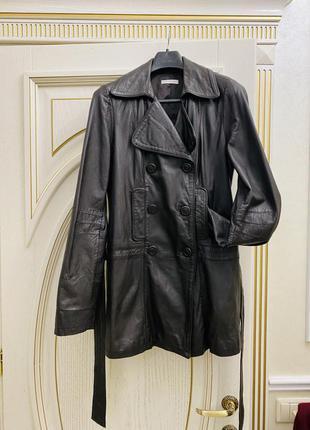 Кожа. натуральная плащ. куртка. франция