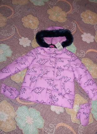 Нова шикарна тепла курточка george